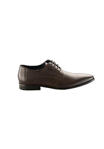 DIGEL Schuh Steve Leder Schnürer Ziernähte Schwarzbraun Größe 42