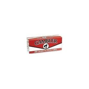 Gambler Tube Cut Cigarette Tubes King Full Flavor 50ct Case- New by Gambler