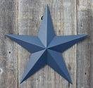 32 Inch Solid Whale Blue Barn Star Made with Galvanized Metal to Prevent Rusting. Amish Hand Made Your Source for Heavy Duty Metal Tin Barn Stars and Primitive Style Stars for Your Country Crafts and Home and Garden Decor. American Handcrafted - Made in the Usa!