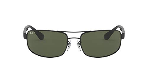 Ray-Ban Men's Rb3445 Metal Rectangular Sunglasses