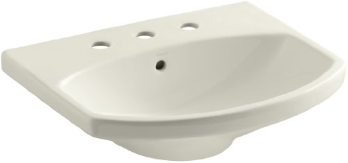 KOHLER K-2363-8-96 Cimarron Bathroom Sink Basin, Biscuit