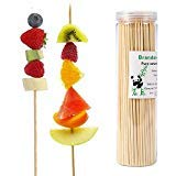 - Brandonsuper Bamboo Skewers 8 Inch (200 Pcs) Natural BBQ for Shish Kabob, Grill, Appetizer, Fruit, Corn, Chocolate Fountain