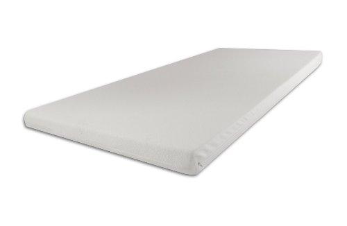 SW Bedding Topper Viscoelastische Matratzenauflage 140 x 200 x 9 cm H2 mit Bezug medicare