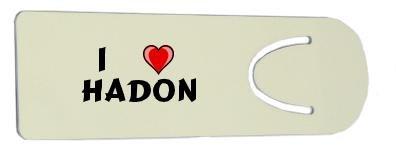 Bookmark with I Love Hadon (first name/surname/nickname)