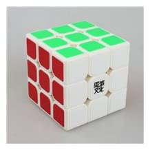 Yongjun Moyu Ao Long 57Mm 3X3X3 Magic Cube Speed Puzzle Cubes Imagination Educational Toy Special Toys^Milky white.