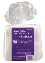Disposable Wipes, 12'' x 13'', 50 per Pack Sheets/Pack by ACL Staticide