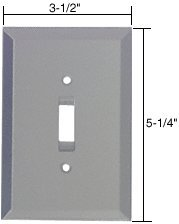 C.R. LAURENCE GMP3G CRL Gray Toggle Switch Glass Mirror Plate