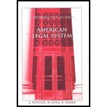 Introduction to American Legal System, Schulze, Enika H. and Jung, P. Michael, 0929563727
