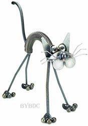 Standing Glass-Eyed Junkyard Cat