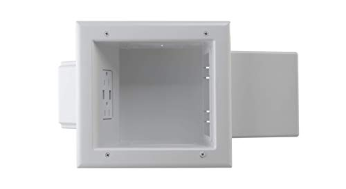Datacomm Electronics 45-0251-WH in-Wall, Recessed Expandable Media Box with 4.0 Dual USB Ports, ()