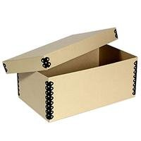 Archival Methods Metal Edge Short Top Box 5 x 8'' Cards/Stereos 10.5 x 8-1/8x5-1/8'', Tan by Archival Methods