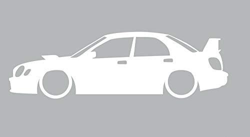 N.SunForest Subaru WRX STI Bugeye 2nd Gen Outline Car Window Sticker Vinyl Decal Race iPad for Car/Phone/Window/Laptop -12 Inches