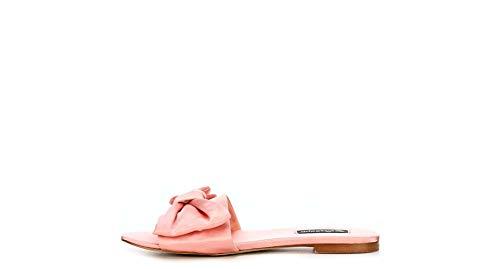 ZIGI SOHO Womens Valiant Satin Open Toe Flat Sandals Pink 8 Medium - Ankle Wedge Satin Strap
