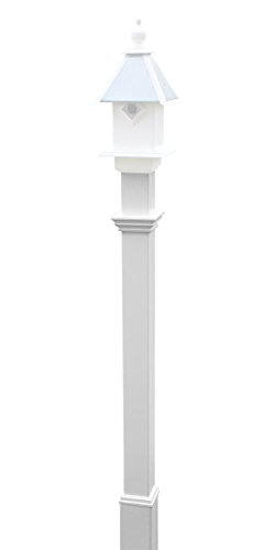 (New England Decorative Mounting Post, White, 5')