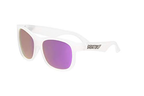 Babiators Blue Series Polarized Baby & Kids Sunglasses (3-5Y, Clear Navigator/Purple Mirror)