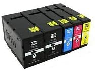 5PK PGI-1200XL Pigment Ink with Chip Replacement for Canon MAXIFY MB2020 MB2320 MB2720