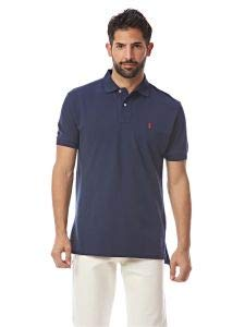 Polo Ralph Lauren Classic Fit Mesh Polo (Small, Newport Navy) (Gestreift Polo Ralph Lauren)