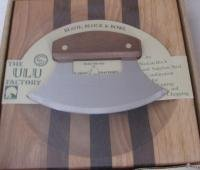 Ulu Factory Ulu Bowl Plain Walnut Handle by Alaska Ulu Factory
