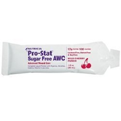Pro-Stat Sugar Free AWC - Wild Cherry Punch, 1 fl oz / dose (Case of 96 doses) by Medical Nutrition USA