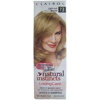 Clairol Natural Instincts Loving Care, Light Ash Blonde #73 (One Application). by Clairol