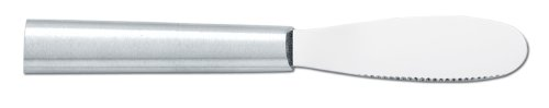 Rada Cutlery Spreader Knife - Stainless Steel Serrated Blade With Aluminum Handle Made in the USA