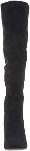 Unlined Bottes Cavalieres Highboot PMS Black Bendle Femme Noir 01001 Fz17ZZ
