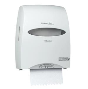 Kimberly-Clark Professional 09995 Sanitouch Hard Roll Towel Dispenser, 12 63/100w x 10 1/5d x 16 13/100h, White (13 63)