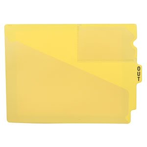 Yellow Vinyl Shelf Guides - Briggs HeralthCare End-Tab Vinyl Out Guide, Yellow - 25 Per Pack
