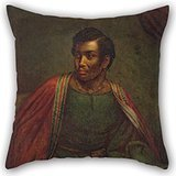 [Beautifulseason Throw Cushion Covers Of Oil Painting Henry Perronet Briggs - Ira Aldridge As Othello 18 X 18 Inches / 45 By 45 Cm,best Fit For Girls,outdoor,kids,deck Chair,home Office,shop Two] (Sally From Cars Costume)