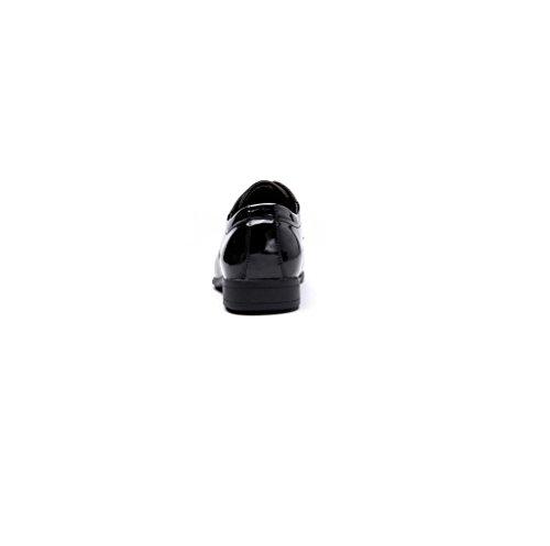 Rete Oxford Piselli Nero Scarpe Scarpe Uomo Black Casual Scarpe Traspirante Primavera Marrone da Autunno Eleganti Pigro zqPg6