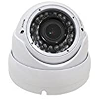 1080p HD-CVI Vandal Resistant Indoor/Outdoor Dome Security Camera - 100 IR - 2.8-12mm Varifocal Zoom Lens - High Definition Security Recording over Coax Cable - MUST BE USED WITH A CVI OR ANALOG DVR!