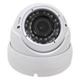 1080p HD-CVI Vandal Resistant Indoor/Outdoor Dome Security Camera - 100' IR - 2.8-12mm Varifocal Zoom Lens - High Definition Security Recording over Coax Cable - MUST BE USED WITH A CVI OR ANALOG DVR!