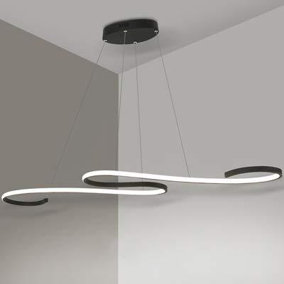 ZZ Joakoah Lámpara colgante LED,Lámpara de techo colgante 46W LED Lámpara de techo,dimmable(3000k-6000k), Aluminio y PMMA araña moderna.