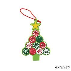 - Candy Tree Foam Christmas Ornament Craft Kit-makes 12