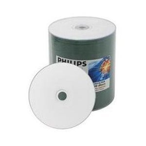 100 Philips 52x CD-R 80min 700MB White Inkjet - Square 100 Printable