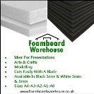 Foam Board A2 (420mm x 594mm) Black Moutning 5mm Thick Foamex Foam Sign Display Model Foamboard Backdrop Craft (3 Sheets) Foamboard Warehouse