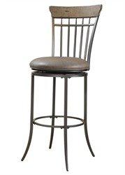 30 Bar Stool Vertical - Hillsdale Furniture 4670-831 Charleston Vertical Spindle Swivel Bar Stool, Desert Tan/Dark Gray