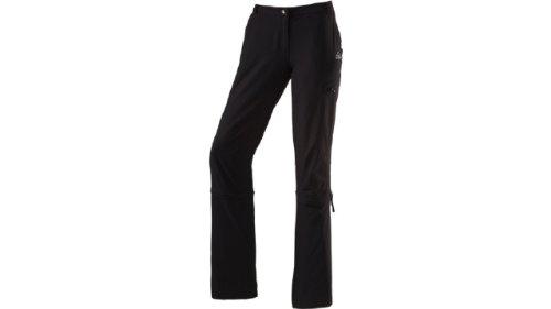 McKINLEY - de mujer, pantalones, perneras desmontables con cremallera negro