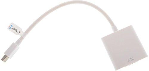 iConnect World™ Mini Display Port Thunderbolt to VGA Adapter Cable Apple MacBook, MacBook Pro, MacBook Air, iMac, Mac mini, Mac Pro; Microsoft Surface Pro 4, Pro 3, Pro 2, Surfacebook
