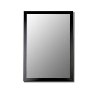 Nouveau Mirror in Matte Black Size: 25