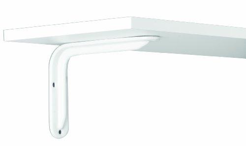 John Sterling Magnum Style Decorative Shelf Bracket, 8-inch, Warm White, RP-0099-8WT