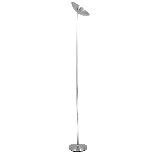 Dimming chrome halogen uplighter floor lamp bulb included