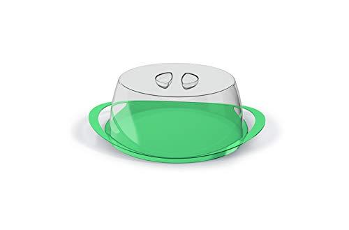 Porta Bolo Boleira Plus Acrílico Com Alça UZ Verde