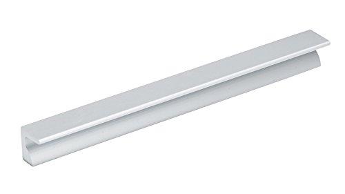 (Richelieu Hardware - BP460412810 - Contemporary Aluminum Edge Pull - 4604 - 5 1/32 in (128 mm) - Aluminum  Finish)