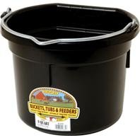 LITTLE GIANT PLASTIC FLAT BACK BUCKET - 8 QUART