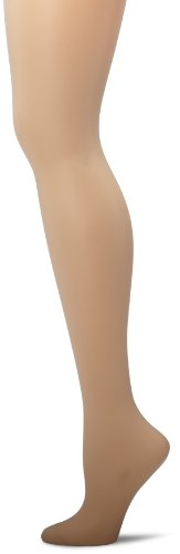 Hanes Women's Control Top Reinforced Toe Silk Reflections Panty Hose, Travel Buff, E/F