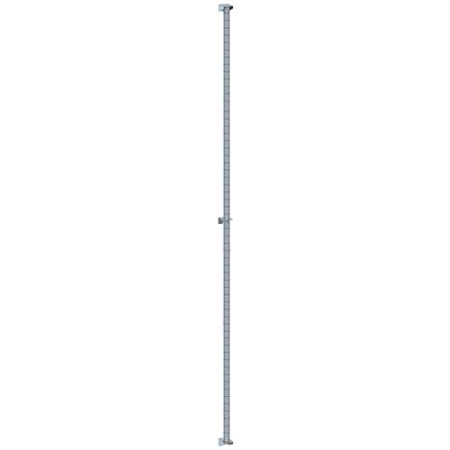 TableTop King 63PDFS Super Erecta Stainless Steel Post-Type Wall Mount 62'' Post with Brackets