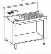 (Krowne Metal KR18-S12C Royal 1800 Series Underbar Hand Sink Storage Cabinet 12