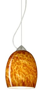 Besa Lighting 1KX-169718-SN Lucia - One Light Pendant, Choose Finish: SN: Satin Nickel, Choose Mounting Option: 1KX: Dome Canopy Cable Fixture, Choose Lamping Option: 100W Incandescent Medium Base ()