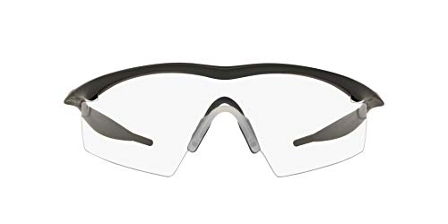 Oakley Men's OO9060 M Frame Strike Shield Sunglasses, Black/Clear, 29 ()